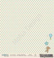 """Лист односторонней бумаги от Mona Design - """"Звездное небо"""" - Малыш, 30х30см"""