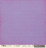 """Лист односторонней бумаги для скрапбукинга от Mona Design - Сиреневый из коллекции """"Горох базовый"""", 30,5х30,5 см"""