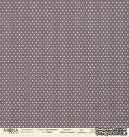 """Лист односторонней скрапбумаги от Mona Design - """"Базовый горох"""" лист """"Горох серый"""", 30,5х30,5 см"""