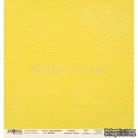 """Лист односторонней скрапбумаги от Mona Design - """"Базовый горох"""" лист """"Горох желтый"""", 30,5х30,5 см"""
