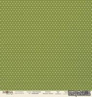 """Лист односторонней скрапбумаги от Mona Design - """"Базовый горох"""" лист """"Горох оливковый"""", 30,5х30,5 см"""