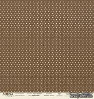 """Лист односторонней скрапбумаги от Mona Design - """"Базовый горох"""" лист """"Горох коричневый"""", 30,5х30,5 см"""