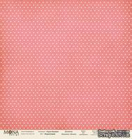 """Лист односторонней скрапбумаги от Mona Design - """"Базовый горох"""" лист """"Горох коралловый"""", 30,5х30,5 см"""