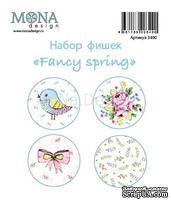 "Набор фишек от Mona Design - ""Fancy Spring"", 4 шт., диаметр 2,5см"