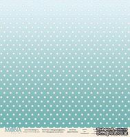 """Лист односторонней бумаги от Mona Design """"Звездочки на мятном"""", 30,5х30,5см"""