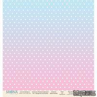"Лист односторонней бумаги от Mona Design ""Звездочки на розовом"", 30,5х30,5см"