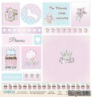 Лист карточек от Mona Design - Розовый единорог, 30,5х30,5см