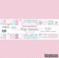 """Набор скрапбумаги от Mona Design """"Розовый единорог"""", 30,5х30,5 см, 10 шт."""