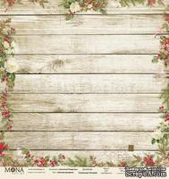 Лист односторонней скрапбумаги от Mona Design - Уютный праздник, 30,5х30,5 см