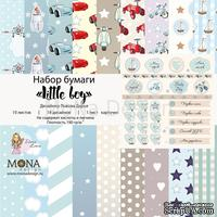 Набор бумаги от Mona Design — Little boy, 10 листов