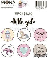 Набор фишек от Mona Design — Little girl, 6 шт