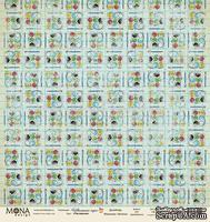 Лист односторонней скрапбумаги  от Mona Design - Рисование - Школьная пора, 30,5 х 30,5 см