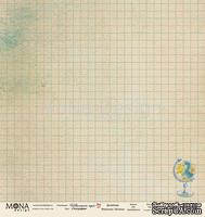 Лист односторонней бумаги для скрапбукинга от Mona Design - География, 30,5х30,5 см