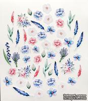 Набор высечек от Mona Design — Цветы, коллекция Однажды в Париже, 52 элемента