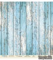 "Лист односторонней скрапбумаги от Mona Design -""Blue wood"" коллекция ""Love is in the air"", 30,5x30,5 см"