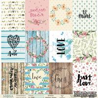 Лист односторонней скрапбумаги от Mona Design - Cards - Love is in the air, 30,5х30,5 см, 190 гр/м