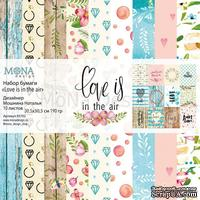 Набор скрапбумаги  от Mona Design - Love is in the air, 10 листов+полоска карточек, арт 85702