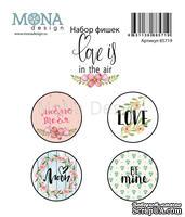 Набор фишек  от Mona Design - Love is in the air, 4 шт, диаметр 2,5 см