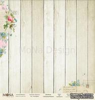 Лист односторонней скрапбумаги от Mona Design - Незабудки, 30,5х30,5 см, 200 гр/м