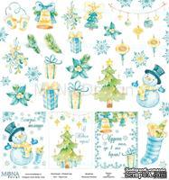 """Лист скрапбумаги от Mona Design - Карточки"""" - Новый год, 30x30см, арт 39952"""