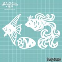 Чипборд от Вензелик - Набор рыбок, размер: от 4,5 до 8,6 см