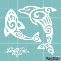 Чипборд от Вензелик - Набор дельфинов, размер: 60x56 мм