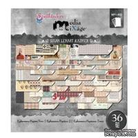 Набор скрапбумаги Spellbinders - Ephemera Papers Two, 15х15 см, 36 листов