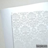 Лист дизайнерской бумаги с рисунком Роскошно 2, цвет Жемчуг, А4
