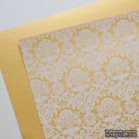 Лист дизайнерской бумаги с рисунком Роскошно 2, цвет Золото, А4