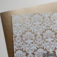 Лист дизайнерской бумаги с рисунком Роскошно 2, цвет Бронза, А4