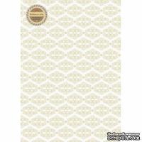 Лист дизайнерской бумаги с рисунком Легко - Вензель шашечка, А4