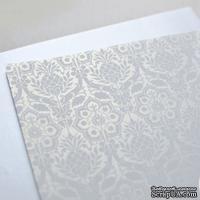 Лист дизайнерской бумаги с рисунком Роскошно 1, цвет Жемчуг, А4