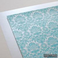 Лист дизайнерской бумаги с рисунком Роскошно 2, цвет Тиффани, А4