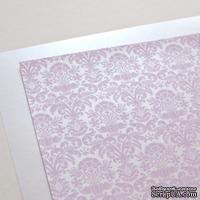 Лист дизайнерской бумаги с рисунком Роскошно 2, цвет Сирень, А4