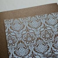 Лист дизайнерской бумаги с рисунком Роскошно 1, цвет Шоколад, А4