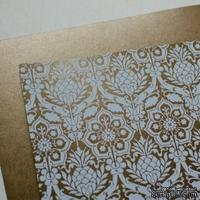 Лист дизайнерской бумаги с рисунком Роскошно 1, цвет Бронза, А4