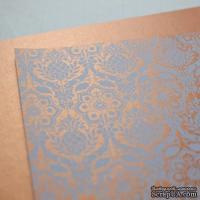 Лист дизайнерской бумаги с рисунком Роскошно 1, цвет Медь, А4