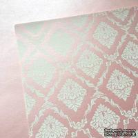 Лист дизайнерской бумаги с рисунком Роскошно 3, цвет Зефир 2, А4