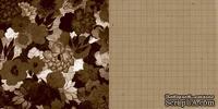 Лист скрапбумаги GCD Studios - Brown Mod - Soul Food Collection - двусторонняя, 30х30 см