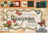 Набор бумаги DCWV - Mariposa Mat Stack with Glitter & Foil, 11,4х16,5 см, 24 листа