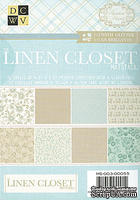 Набор бумаги DCWV - Linen Closet Mat Stack with Glitter, 11,4х16,5 см, 24 листа