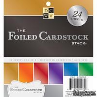Набор фольгированной бумаги DCWV - Foiled Specialty Stack, 15х15 см, 24 листа