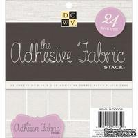 Набор тканевой бумаги DCWV - Adhesive Fabric Stack, 15х15 см, 24 листа