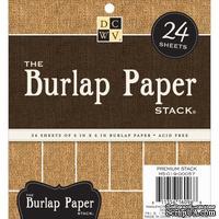 Набор кардстока с мешковиной DCWV - Burlap Specialty Stack, 15х15 см, 24 листа