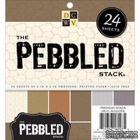 Набор текстурного кардстока (каменная кладка) DCWV - Pebbled Specialty Stack, 15х15 см, 24 листа