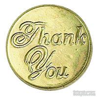 """Сургучная печать с надписью """"Thank you"""""""