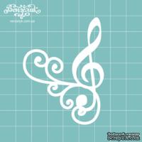 Чипборд от Вензелик - Скрипичный ключ 04, размер:  51x68  мм