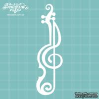 Чипборд от Вензелик - Скрипичный ключ 05, размер: 29x101  мм