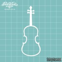 Чипборд от Вензелик - Скрипка 02, размер: 34x89  мм
