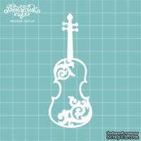 Чипборд от Вензелик - Скрипка 03, размер: 34x89  мм